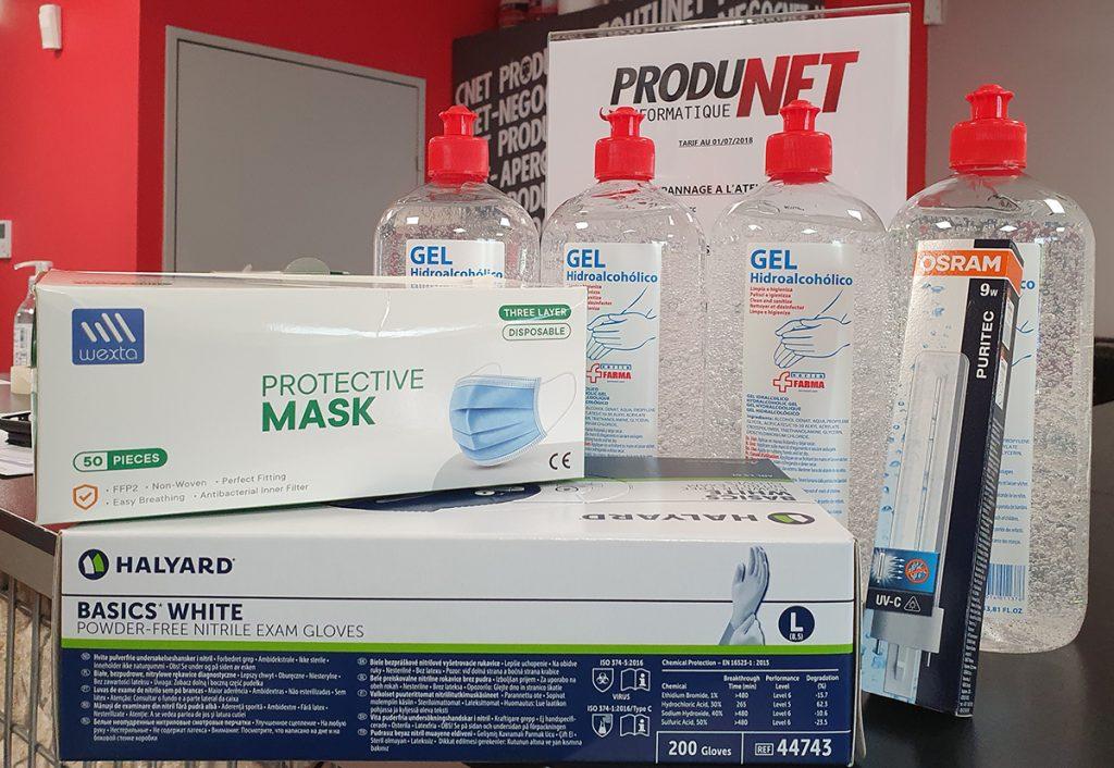 ProduNet - Covid-19 (gel hydrolcoolique, masques, gants)